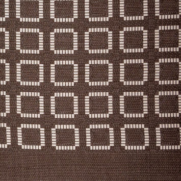 Brown and Ivory Geometric Woven Panel