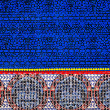 Royal Blue Pattern Play Stretch Corduroy Panel