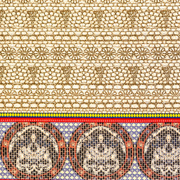 Beige Pattern Play Stretch Corduroy Panel
