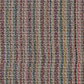 Multicolor Loosely Woven Wool Tweed