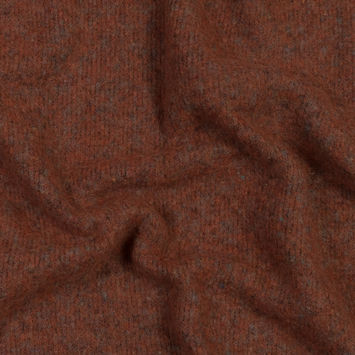 Italian Burnt Orange Double-Sided Brushed Chunky Wool Knit
