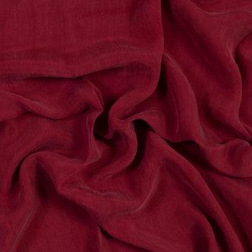 Persian Red Cupro Plain Dyed Certified Vegan Fabric