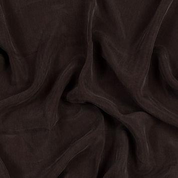 Turkish Coffee Cupro Plain Dyed Certified Vegan Fabric