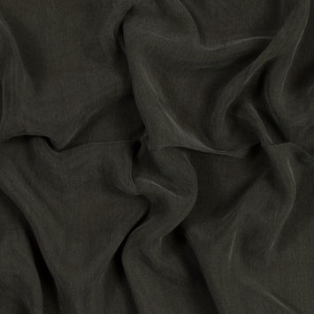 Forest Night Cupro Plain Dyed Certified Vegan Fabric
