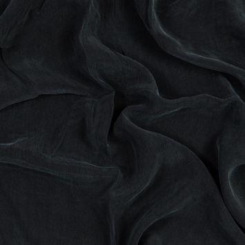 Black Cupro Plain Dyed Certified Vegan Fabric