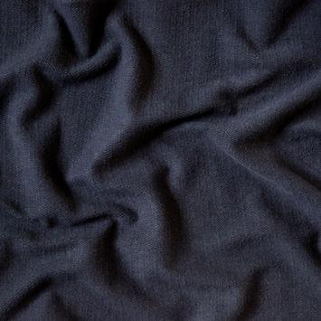 Black Herringbone Cotton French Terry