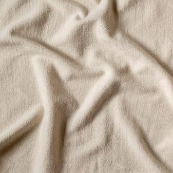 Oatmeal Herringbone Cotton French Terry