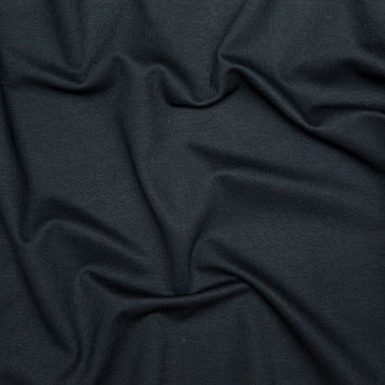Italian Black Heavy Stretch Crepe
