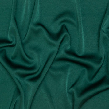 Italian Green Stretch Satin-Faced Crepe