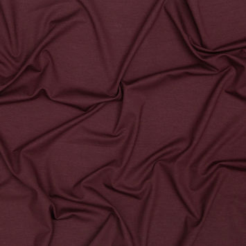 Italian Chocolate Brown Stretch Viscose Jersey
