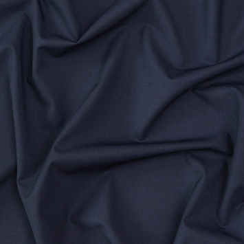 Theory Muted Navy Stretch Virgin Wool Suiting