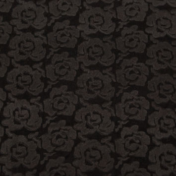 Black Rosy Bonded Wool Knit and Velour