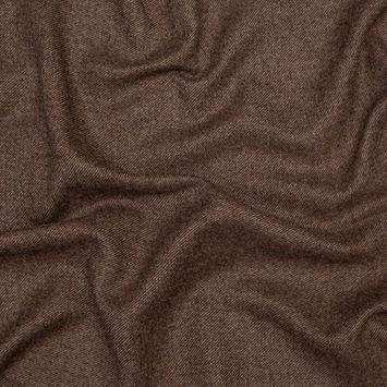Gray and Brown Heavy Wool Twill Coating