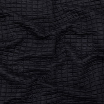Black Quilted Rayon Knit with Filler and Polyester Knit Backing