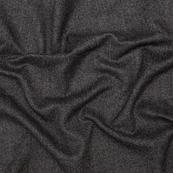 Gray and Black Heavy Wool Twill Coating