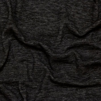 Heathered Charcoal Brushed Wool Knit