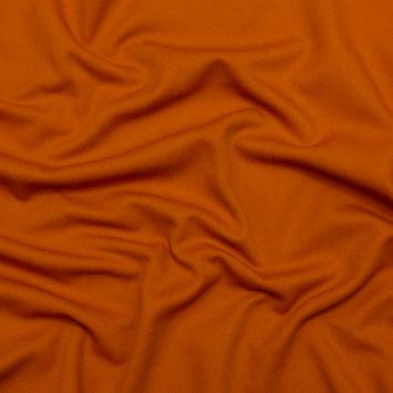 Orange Blended Wool Twill