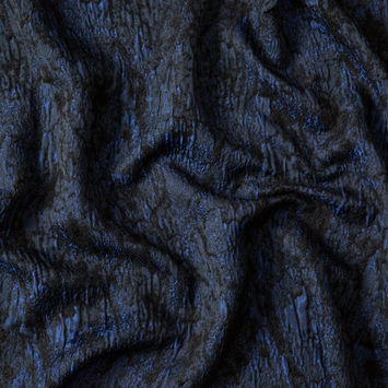 Black and Cobalt Abstract Super Soft Jacquard