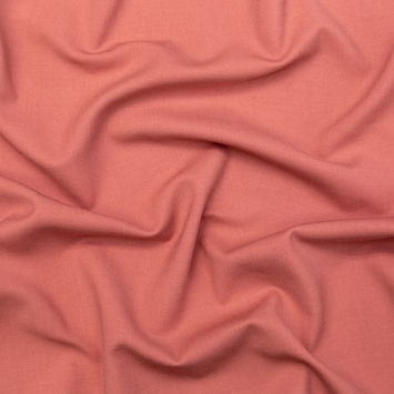 Flamingo Pink Stretch Double Cloth Wool Suiting