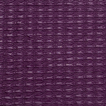 Eggplant Stretch Quilted Coating
