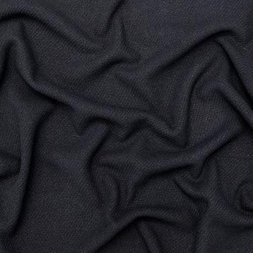 Black Twill Wool Coating