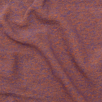 Tangerine and Cobalt Heathered Wool Knit
