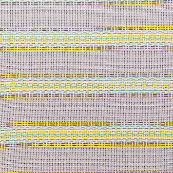 Blue, Jade and Yellow Awning Striped Cotton Tweed