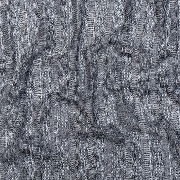 Black, White and Metallic Silver Fringe Lace