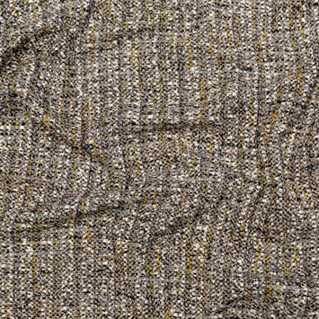 Metallic Beige, Brown, Gray and Yellow Wool Tweed