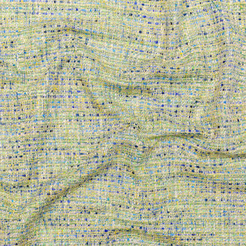 Green and Blue Blended Cotton Tweed