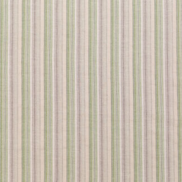 Green and White Barcode Striped Cotton Lawn