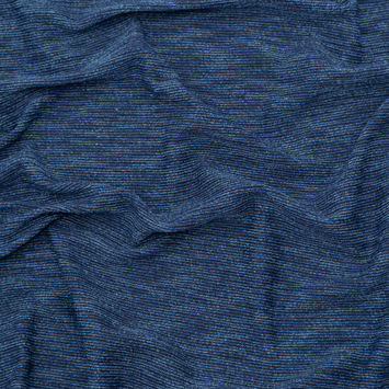 Heathered Blue and Black Stretch Knit