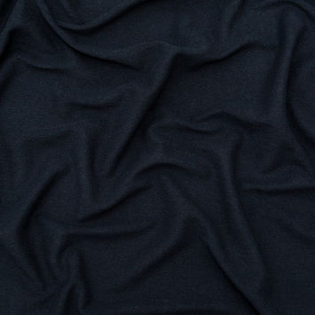 Black Wide Cotton French Terry