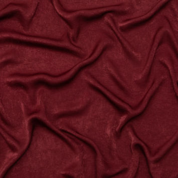 Italian Tawny Port Hammered Polyester Charmeuse