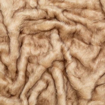 Thick Beige and Brown Faux Fur