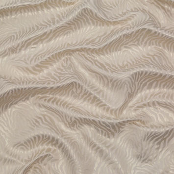 Metallic Whisper White Zebra Cotton Jacquard