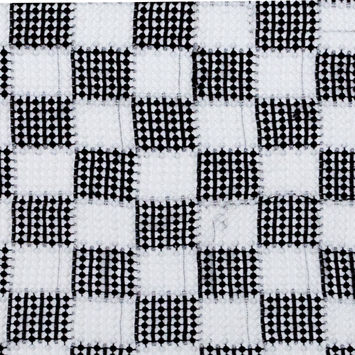 Black and White Checkered Guipure Lace