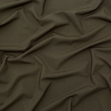 Italian Olive Night Stretch Wool Suiting