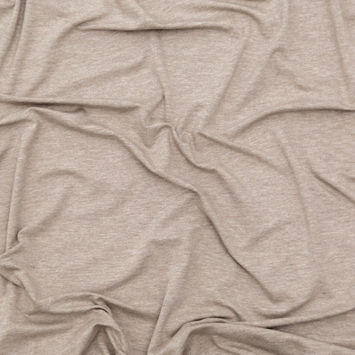 Italian Heathered Beige Stretch Rayon Jersey