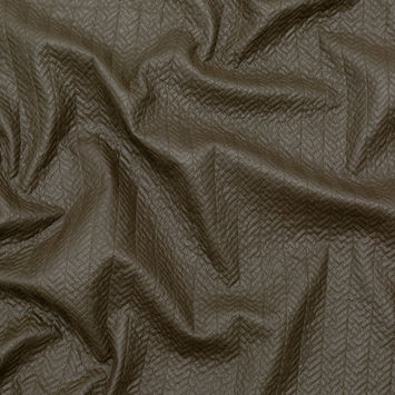 Muted Brown Chevron Quilted Coating with Filler
