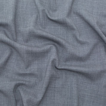 Italian Heathered Gray Stretch Double Faced Wool Suiting