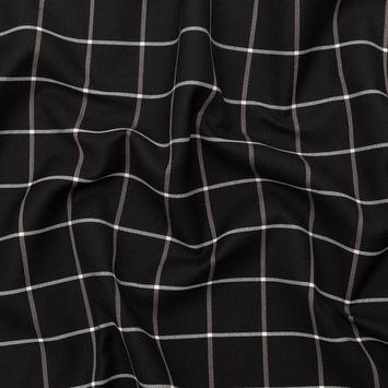 Rag & Bone Black and White Windowpane Check Printed Twill