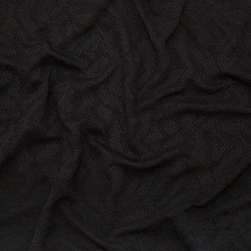 Black Tonal Python Patterned Knit Jacquard