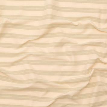 Linen and Eucalyptus Striped Stretch Twill Dobby