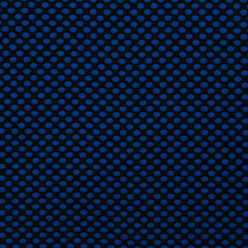 Black and Royal Blue Polka-Dotted Double Knit