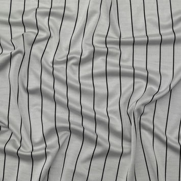 f416be712790 Silver and Black Pencil Striped Minute Pique Knit Fashion Fabric
