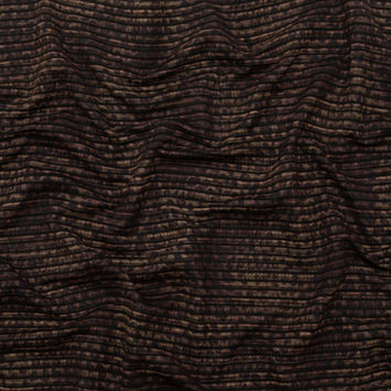 Brown and Black Striped Animal Patterned Stretch Knit