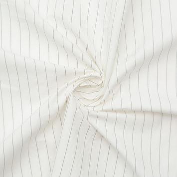 Rag & Bone White and Black Broken Pinstripe Cotton Poplin