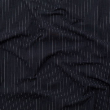 Rag & Bone Charcoal and White Pinstriped Cotton Shirting