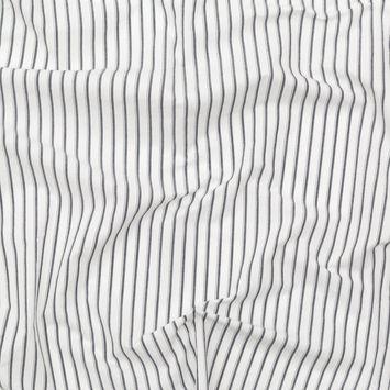 Rag & Bone White and Navy Striped Cotton Poplin